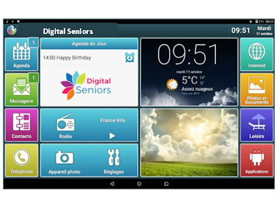 Tablette Seniors Tab de Digital Seniors